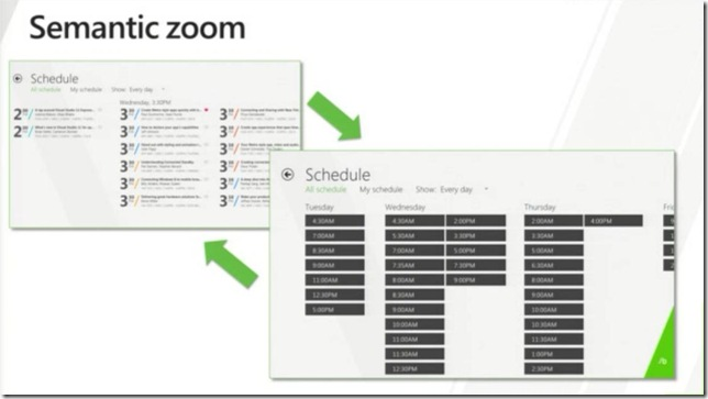 Windows 8 In-box Controls - Presenting data - the Semantic zoom control