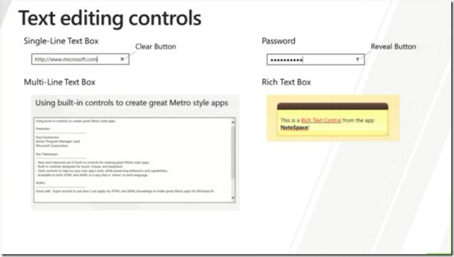 Windows 8 In-box Controls - Text editing controls - for Metro style apps