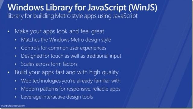Windows 8 In-box Controls - Windows Library for JavaScript [WinJS] - for Metro style apps